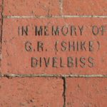 Pavestone brick with in memory of G.R. (Shike) Divelbiss inscribed