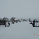 Wills Cemetery covered in snow.